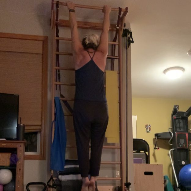 Pull-Up tips for aerialists. Jessica John demonstrates hanging.