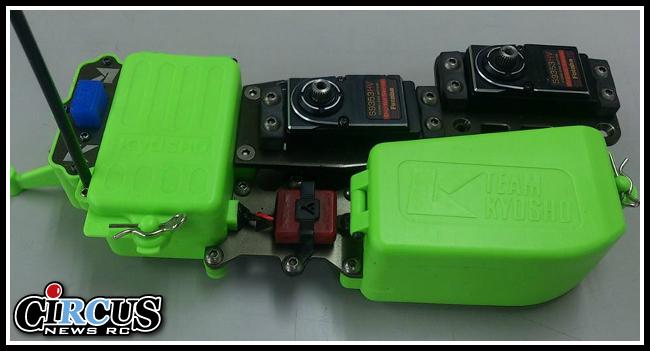 Boitiers plastiques de la platine radio en couleur pour Kyosho MP9