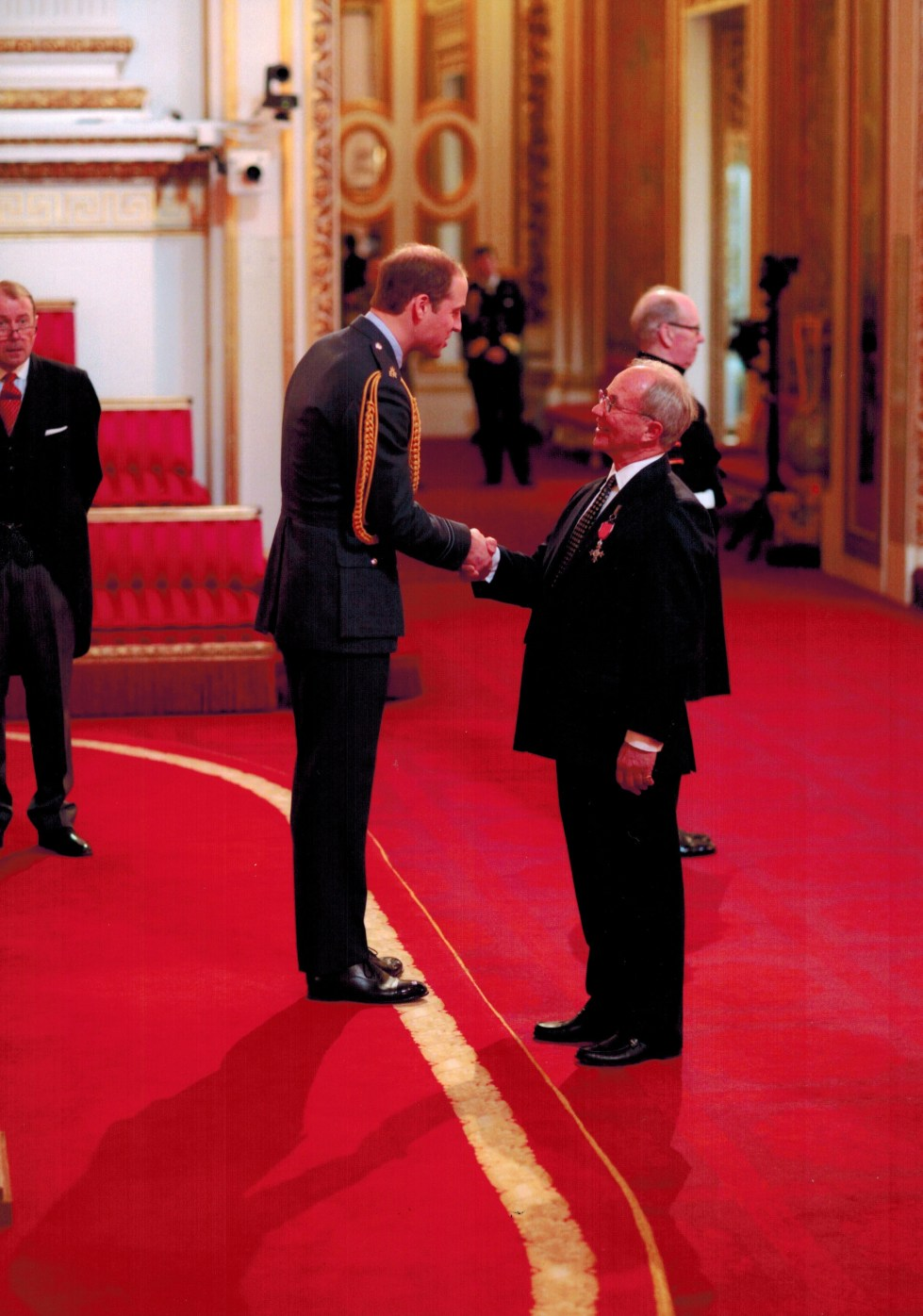 Nick Back receives MBE from Prince William