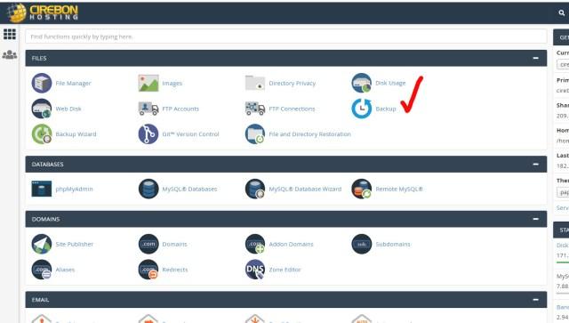 Bagaimana Cara Backup Website Sendiri Dari Cpanel