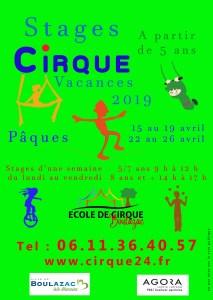 Ecole des arts du cirque de Boulazac - Périgueux flyer-pâques-19-2 Stages de Pâques