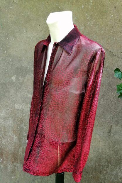 Glitter Mash snake print blouse, M.GLI1.05, front-side