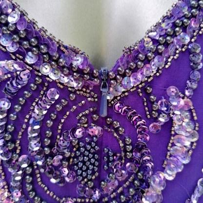 sequin flower top purple
