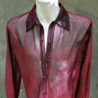 Glitter Mash snake print blouse