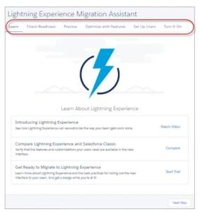 Salesforce Summer '17 - Lightning Migration Wizard
