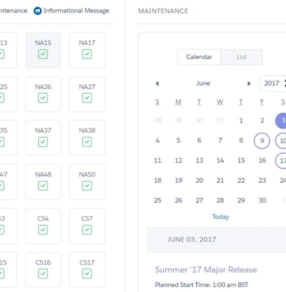 Find your Salesforce Summer '17 release date