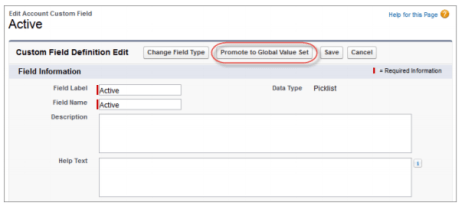 Promote an existing picklist to a Global Value Set.