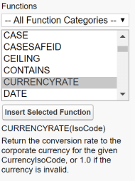 Salesforce CURRENCYRATE formula