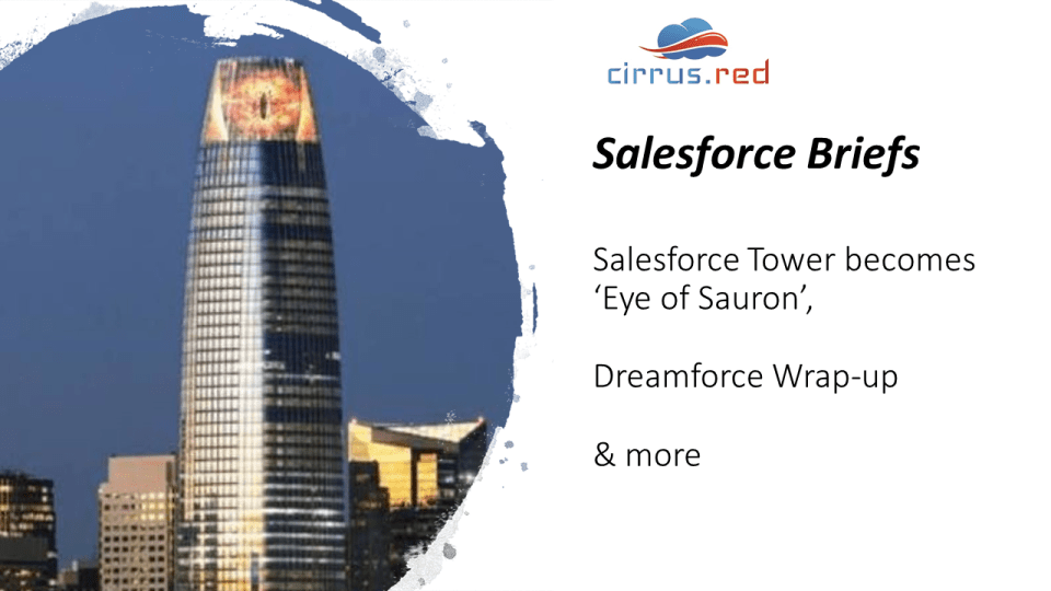 Salesforce Tower into 'Eye of Sauron' & Dreamforce wrap-up