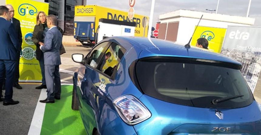 La ciudad del transporte de Murcia estrena un punto de recarga rápida para vehículos eléctricos