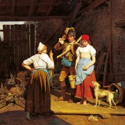 Вальдмюллер Фердинанд Георг. Материнское наставление. 1850