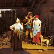 Ferdinand Georg Waldmüller, Mütterliche Ermahnung, 1850. Fotograf: Sammlungen des Fürsten vuz Liechtenstein