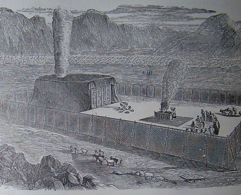 The Tabernacle, illustration from the 1890 Holman Bible