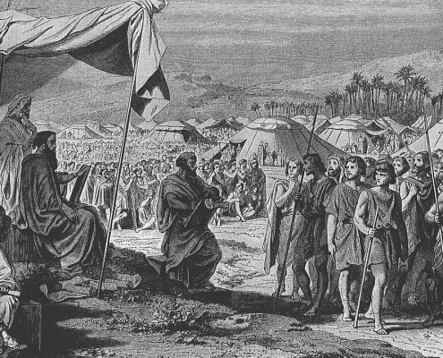 The Numbering of the Israelites (engraving by Henri Félix Emmanuel Philippoteaux)