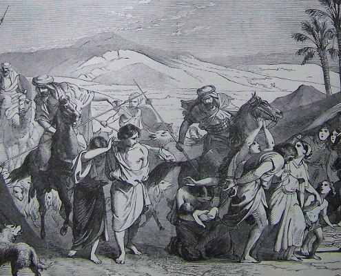 Israelites Carried Captive (illustration from the 1890 Holman Bible)
