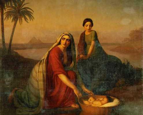 Alexey Tyranov. Моисей, опускаемый матерью на воды Нила. 1839-1842.