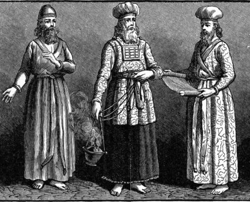 Priests of the Tabernacle (illustration from the 1897 Bible Pictures and What They Teach Us by Charles Foster)