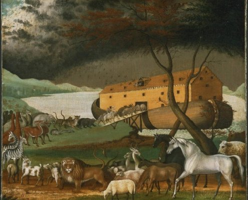 Noach. Noah's Ark (1846 painting by Edward Hicks). Public Domain