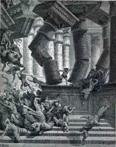 Death of Samson. Gustave Dore. 1866.