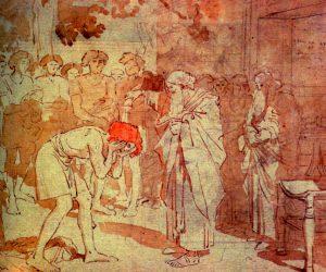 Самуил помазывает Давида на царство. Alexander Ivanov