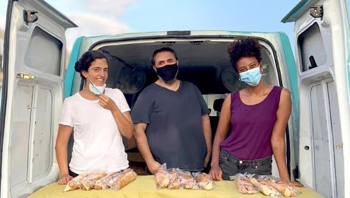 Вы помогаете кормить души в Тель-Авиве