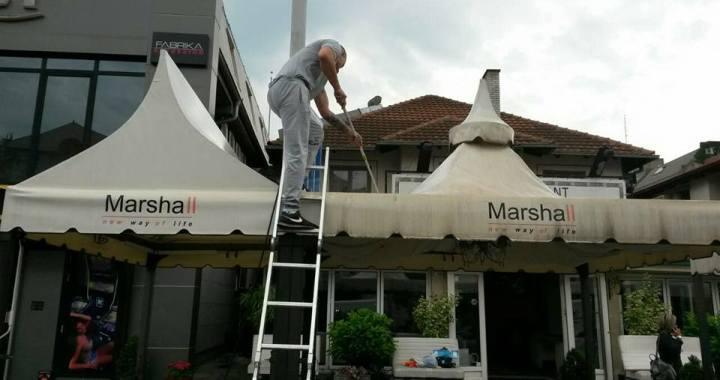 Masinsko pranje ugostiteljskih tendi i nadstresnica