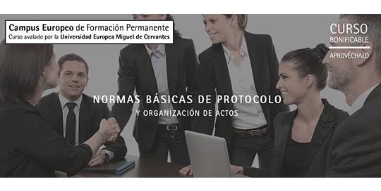 Curso de Normas básicas de protocolo y organización de actos