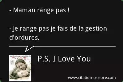 citation p s i love you maman