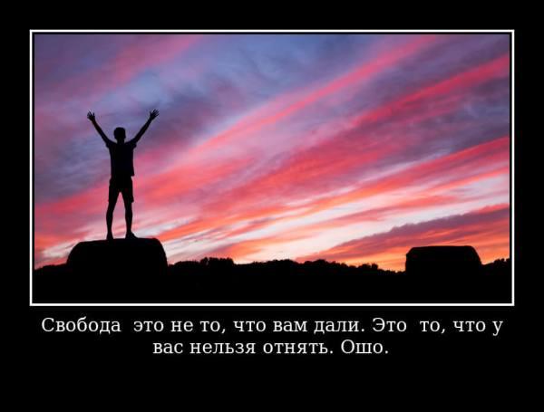 Цитаты про свободу со смыслом, короткие, в картинках