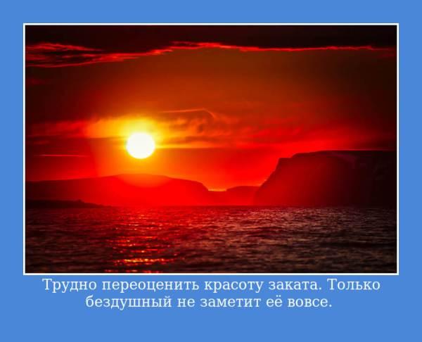 Цитаты про закат солнца: красивые и короткие, в картинках