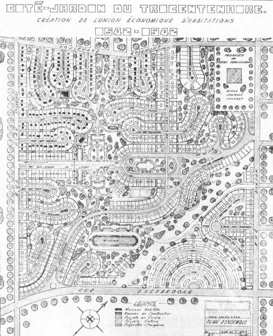 Cité-jardin du Tricentenaire - développement projeté en 1942