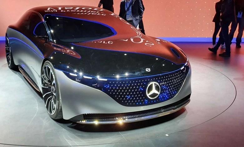 El Mercedes Vision EQS: un auto 100% eléctrico