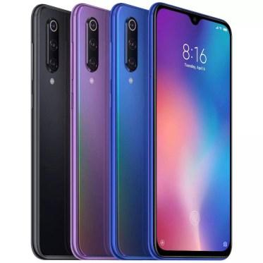Imagen de Xiaomi Mi 9 en diferentes colores uno de los mejores móviles de 2019