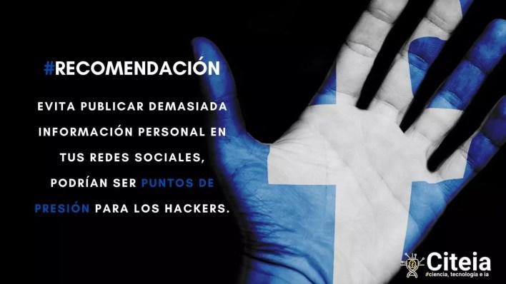 hackear facebook, evita publicar demasiada información personal en tus redes sociales.