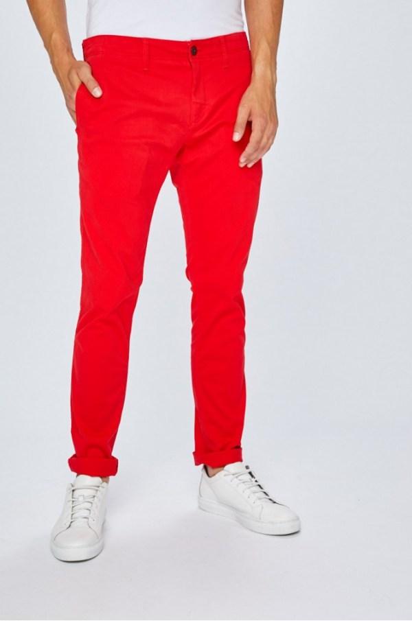 Pantaloni Tommy Jeans Rosii