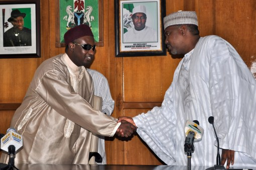 Kaduna State Governor H.E Mukhtar R. Yero welcomes the inauguration of the FCT 2013 Local Organisation Committee, by the State Chief of Staff, Alh. Yahaya Aminu, at Government House Kaduna.
