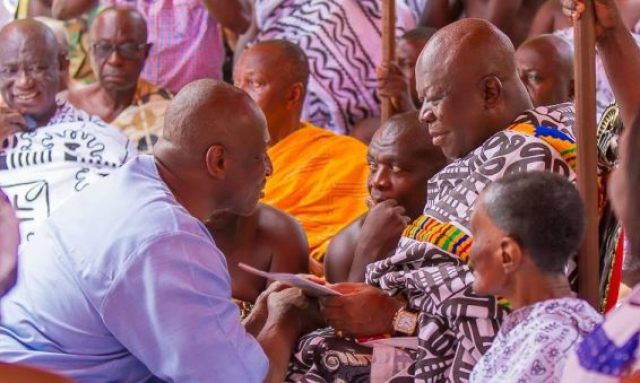 Mr. Herbert Mensah with the Asantehene.
