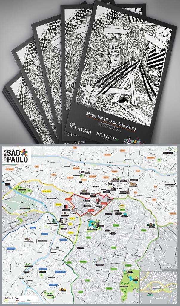 mapa turístico SP Convention