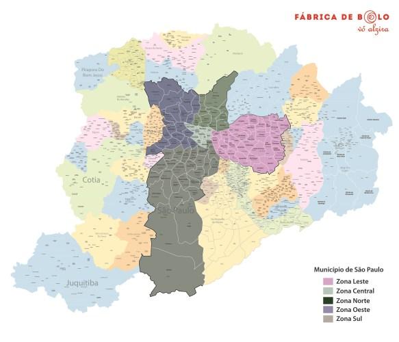 Mapa SP e Grande SP com Bairros