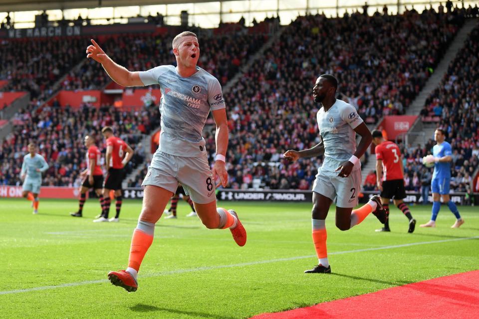 Southampton 0-3 Chelsea: Ross Barkley shines as Maurizio Sarri's men win again