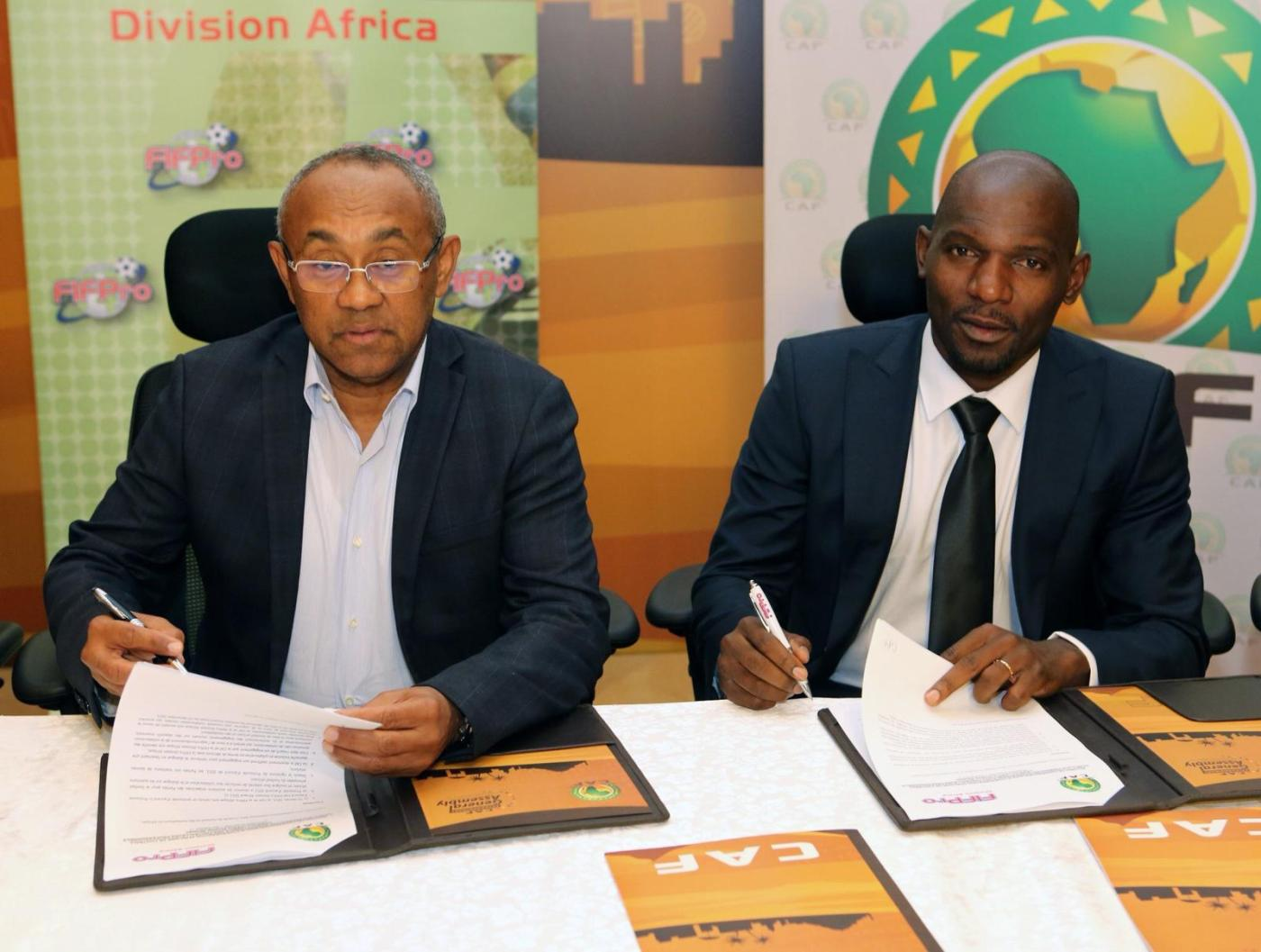 CAF and FIFPro Africa Division sign 5-year agreement