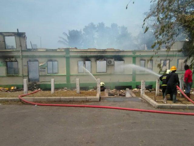 W/Region: Lands commission office razed by fire 2