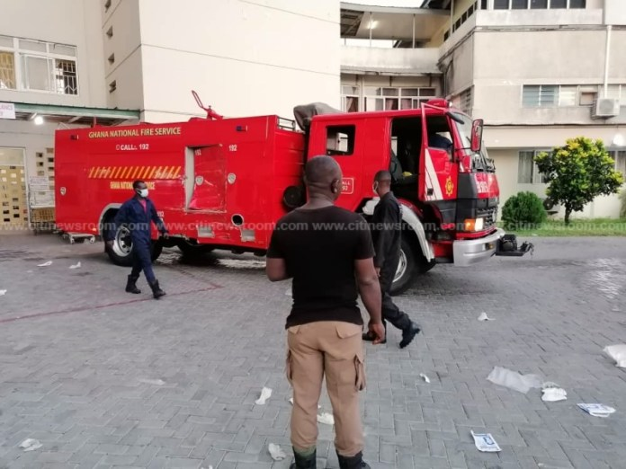 COVID-19 patients transferred to UG Medical Centre after fire guts Korle Bu ICU 5