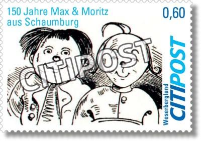 CITIPost Weserbergland - 150 Jahre Max und Moritz - Einzelmarken