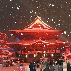 善光寺の冬