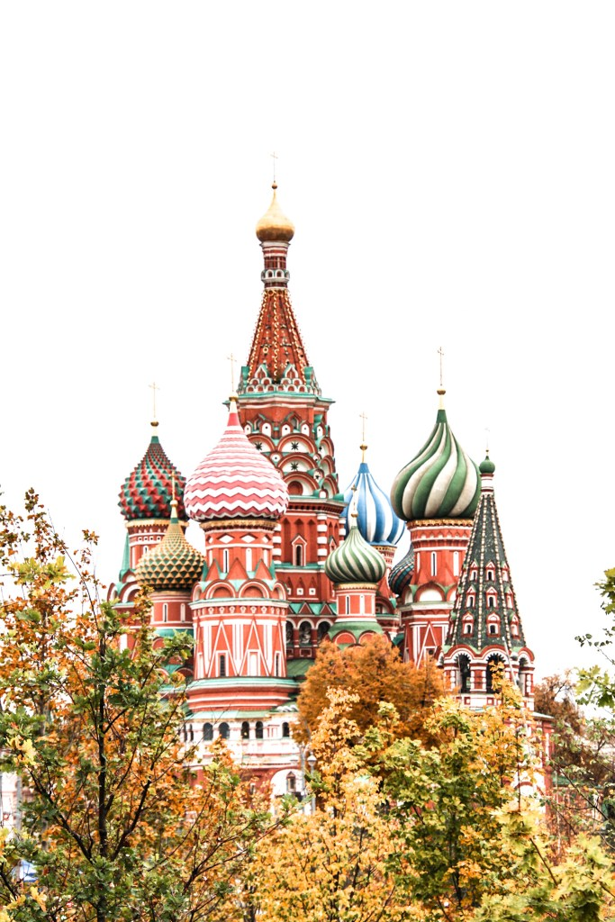 Moscow basilic red square in Autumn