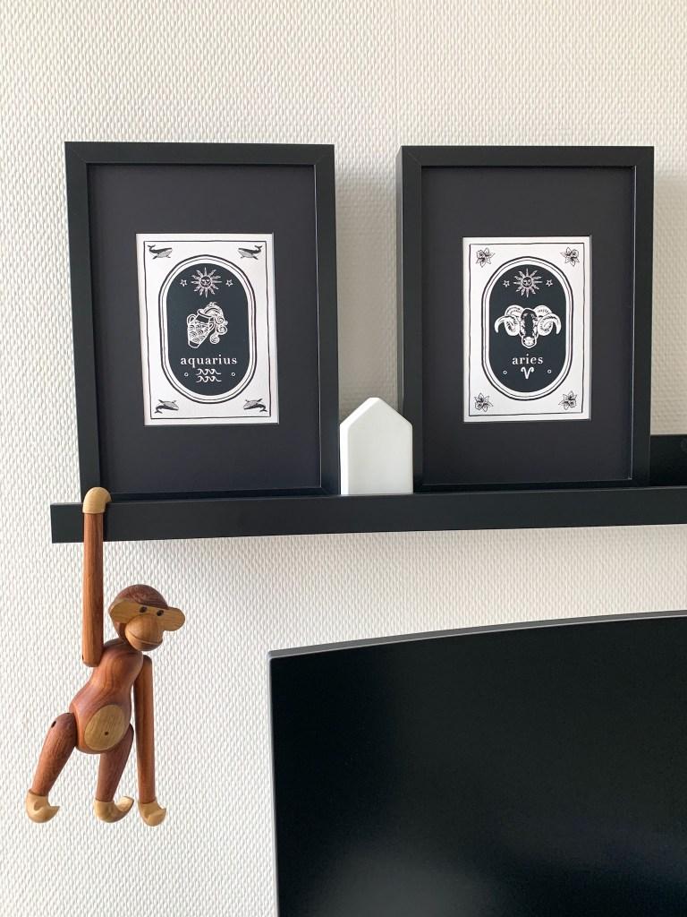 Zoe-Corbey-black-white-aquarius-aries-print-zodiac-signs
