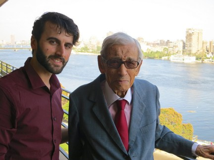 On the occasion of his 90th Birthday, Dr. Boutros and I in Cairo.  November 2012.
