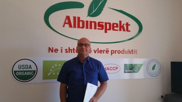 Sokol Stafa, Drejtor i Albinspekt. Foto: Private Suguria ushqimore Citizens Channel Tirana Albania Shqiperia