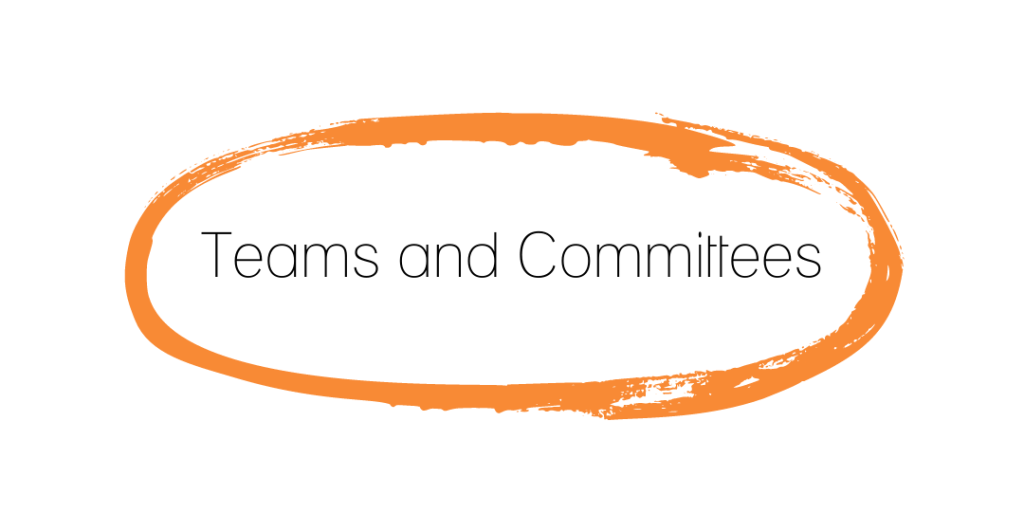 Teams and Committees [black text on white background]